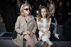 Catherine Deneuve and Sarah Jessica Parker Front Row at Louis Vuitton RTW Fall 2012