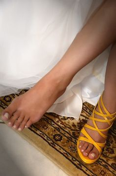 My yellow shoes Yellow Shoes, Yellow Wedding, Sandals, Fashion, Moda, Shoes Sandals, Fashion Styles, Fashion Illustrations, Sandal