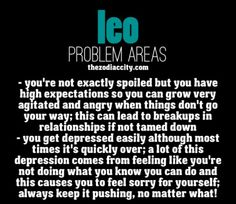 Leo and their problem areas.