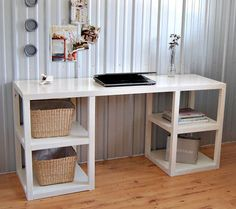 Ana White desk... David made this for our office with a few alterations. Love it!