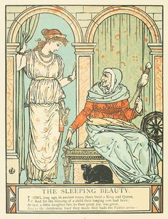 The Sleeping Beauty, New York, 1911. Illustrated by Walter Crane.