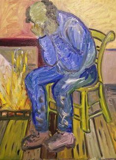 Mijn versie van de treurende man van Van Gogh