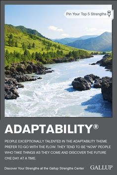 If you prefer to go with the flow and take things as they come, you may have Adaptability as a strength. Discover your strengths at Gallup Strengths Center. Strengths Based Leadership, Gallup Strengths Finder, Find Your Strengths, Leadership Lessons, Leadership Coaching, Team Activities, Leadership Activities, A Course In Miracles, Dream Career