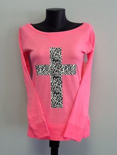 Drop Shoulder Long Sleeve Tee Cross by CustomTsCorp on Etsy, $19.99