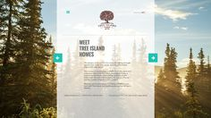 Responsive home page for Tree Island Homes.