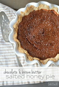 Pie - This unique pie is filled with rich honey flavor, browned butter ...