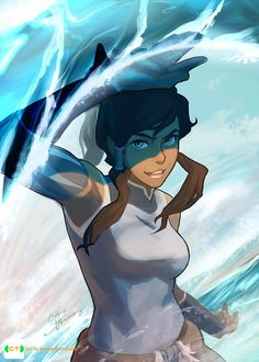Korra In Her Element!! by dCTb.deviantart.com on @deviantART