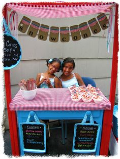 Raising up Rubies: simple snow cone stand ... ♥