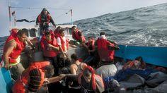 """@nytimes Magazine for """"The Dream Boat,"""" by Luke Mogelson, photographs by Joel Van Houdt, November 17"""