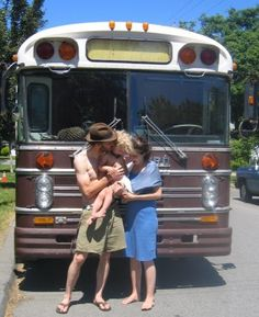 Meet Eliza Brownhome: a 1974 Bluebird school bus that houses a family of five | Offbeat Home