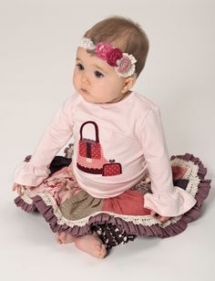 Persnickety Pretty in Pink Layette Ruffle Sleeve Tee *Preorder* – Posh Closet Children's Boutique