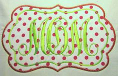 Frames 03 Machine Applique Embroidery Design  4x4 5x7 by KCDezigns, $3.50