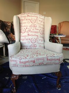 Hey, I found this really awesome Etsy listing at http://www.etsy.com/listing/114144934/wingback-chair-new-custom-upholstery