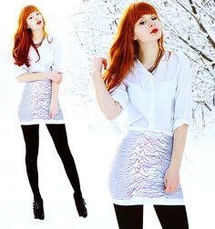 great pattern on the skirt  LOOK AROUND (by Mary Volkova) http://lookbook.nu/look/4442059-LOOK-AROUND