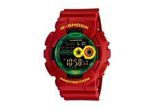 Casio G-Shock GD-100RF-4JF Rastafarian