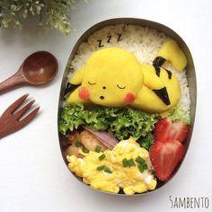 Zzz... -- #pikachu #pokemon #bentoart #charaben #kyaraben #cute #kawaii #anime #manga #otaku Posted with permission from @5ambento