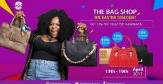 If you are a lover of stylish high quality Womens hand bags; this is exciting news!  The Bag Shop; the biggest retailer of Womens handbags in Nigeria is giving you the opportunity to save money when you buy any bag from their online store http://ift.tt/2pc9cTY from April 13 to 19. Use the Code LIN01 to get your 15% discount. They offer cash on Delivery in Lagos and Abuja. You may also visit their shop to buy your bags at Plot CL3 Ikosi road Oregun Lagos. The Bag Shop offers 365 days warranty…