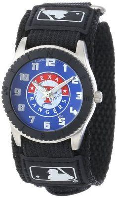 "Game Time Unisex MLB-ROB-TEX ""Rookie Black"" Watch - Texas Rangers"