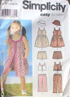 84ae896820d32 Simplicity 5540 sewing pattern for sizes 3