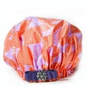 For the GEORGIA Girl! TICKLE ME PEACH http://bluegiraffeboutique.com/shower-caps/ $24 #drydivas