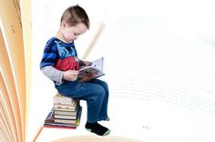 Enfant, Livre, Garçon, Étudiant