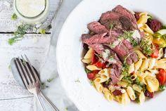 Stoere salade met biefstuk