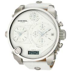 Diesel – DZ7194 – Montre Homme – Quartz Analogique – Digital – Chronomètre – Bracelet Cuir Blanc | Your #1 Source for Watches and Accessorie...