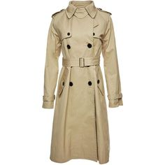 Marc Jacobs Cotton Trench Coat ($795) ❤ liked on Polyvore featuring outerwear, coats, double-breasted trench coat, cotton coat, cotton trench coat, trench coat and waist belt