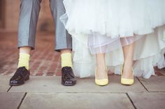 Lovely quirky wedding photo!