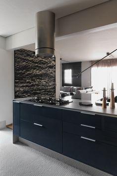 A São Paulo Apartment Inspired by Petroleum Blue - Design Milk
