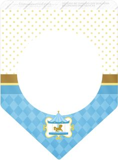 Carousel in Light Blue: Free Party Printables. Carousel Party, Circus Party, Circus Theme, Party Printables, Free Printables, Baby Party, Baby Shower Parties, Printable Birthday Banner, Free Printable Bookmarks