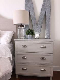 IKEA dresser hack, DIY nightstand #DIYHomeDecorIkea