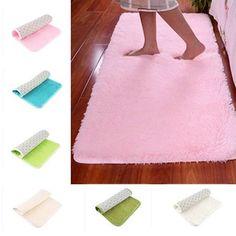 Candy Color Soft Anti-Skid Carpet Flokati Shaggy Rug Living Bedroom Floor Mat