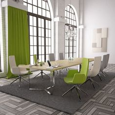 PLANA 8 Person Meeting Room Table | Meridian Office Furniture