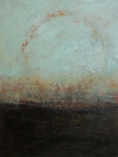 """""""Surrender"""" by Pam Peterson- oil and cold wax on wood panel (www.pampetersonart.com)"""