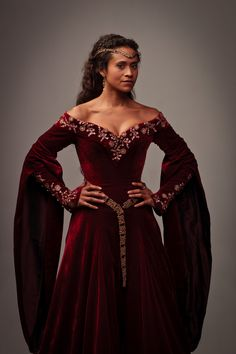 From the series Merlin, on the BBC.  Queen  Guinevere. I seriously love everything about this dress..