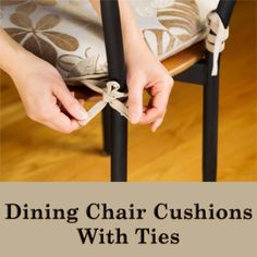 While we love wood and wicker chairs for the dining room and kitchen, often they can be less than comfortable for lingering over a meal with people we care about. Fortunately, dining chair cushions with ties make hard seats…Read More → Wicker Chairs, Dining Chair Cushions, Kitchen Chairs, Cushion Pads, Chair Pads, Slipcovers, Sewing Projects, Sewing Patterns, Upholstery