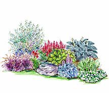 garden plans that peak in fall gardens the winter and decks - Flower Garden Ideas Partial Sun