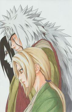 Naruto- Tsunade, Orichimaru  and Jiraya