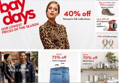 Hudson's Bay Days Save up to 70% on selected items