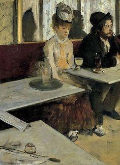 L'Absinthe by Degas, 1876.