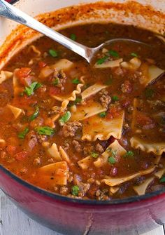 the best recipes of all time: Lasagna Soup