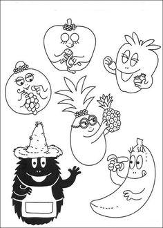 ausmalbild Die Barbapapa Familie Obst