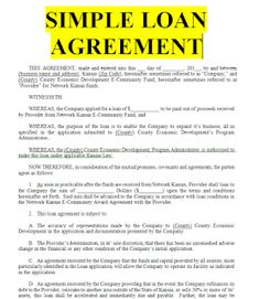 Free Personal Loan Agreement Form Sample Nanny Contract Template  23 Simple Contract Template And .