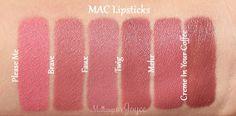 MAC Brave Faux Lipstick Dupe Comparison Swatches