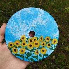 Cd Wall Art, Cd Art, Small Canvas Art, Mini Canvas Art, Vinyl Record Art, Vinyl Art, Arte Sketchbook, Aesthetic Painting, Diy Painting