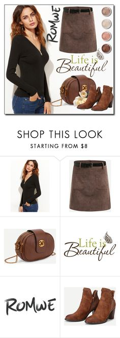 """ROMWE 5 / VIII"" by selmamehic ❤ liked on Polyvore featuring Terre Mère and Brewster Home Fashions"