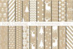 White Kraft Christmas By Poppymoon Design