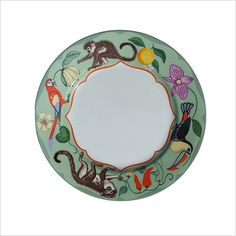 Lynn Chase Monkey Business Porcelain Salad Plate