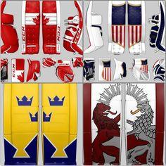 BarDown: Custom international themed goalie equipment sets